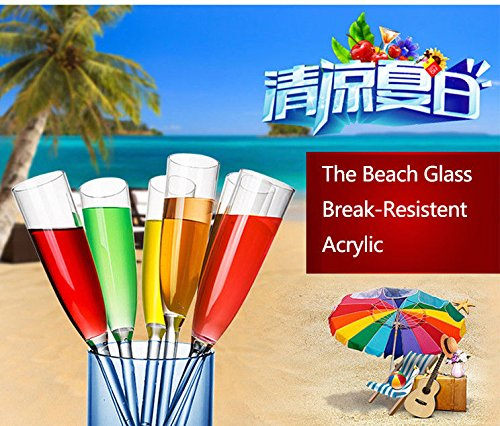 FidgetGear The Beach Glass Acrylic Classic Break-Resistent For Bar Pub Club from FidgetGear