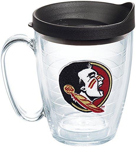 Tervis 1144457 Florida State Seminoles Logo Tumbler with Emblem and Black Lid 16oz Mug, Clear ()
