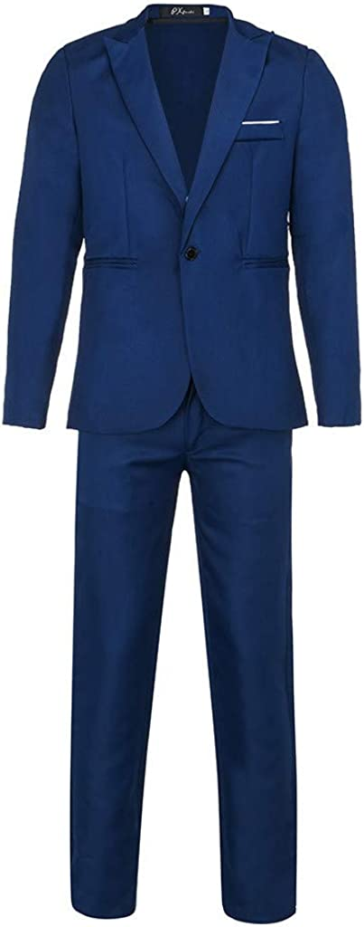 Mens Suits 2 Pieces Slim Fit Wedding Business Dinner Suit Single Breasted Goosun Formal Suit One Button Tuxedo Blazer Trousers Suits for Wedding Prom Party