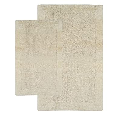 Chesapeake 2-Piece 21-Inch by 34-Inch and 24-Inch by 40-Inch Bella Napoli Rug Set, Ivory