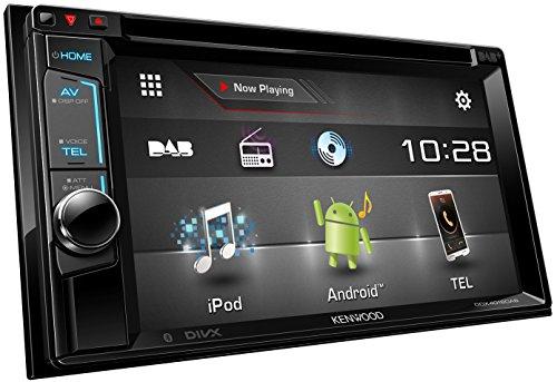 Kenwood DDX4016DAB Doppel-DIN-VGA-Monitor (15,7 cm (6,2 Zoll), USB, DVD, Bluetooth-Freisprecheinrichtung, DAB+ Tuner) schwarz