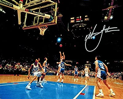Christian Laettner Signed Duke The Shot Full View Game Winner vs Kentucky 8 x 10 Photo