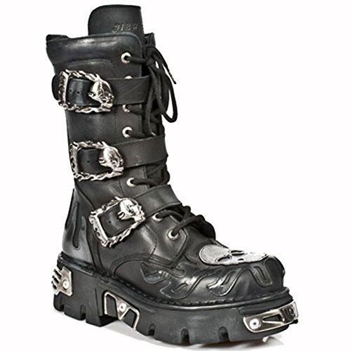 New Rock Boots Lederstiefel schwarz Style 711 46