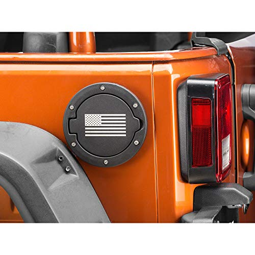 RedRock 4x4 Old Glory Fuel Door Cover - Textured Black, used for sale  Delivered anywhere in USA