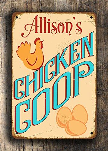 Amazon.com: Custom CHICKEN COOP SIGN Customizable Chicken Coop Metal ...