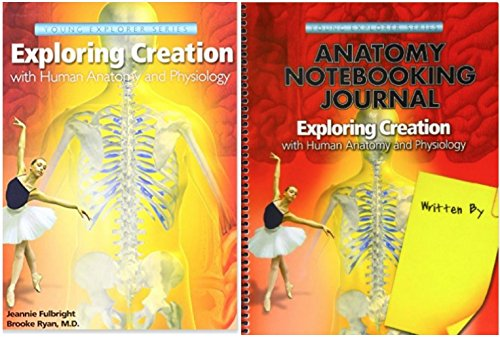 - Exploring Creation with Human Anatomy and Physiology Textbook + Notebooking Journal, Set of 2 Books, Apologia Science