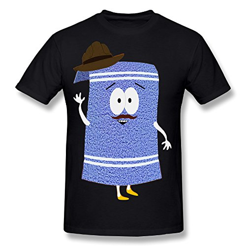 Flesiciate1 Man Towelie Funny South Park Design Size L Tee (Towelie South Park)