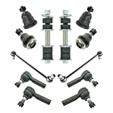 xterra upper ball joint - 12 Piece Upper Lower Ball Joints Inner Outer Tie Rod End Sway Bar Link Set