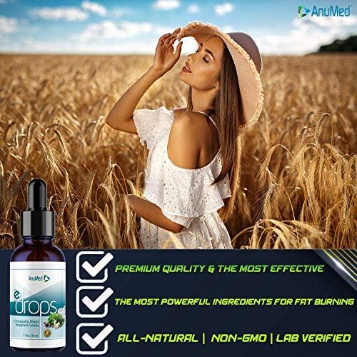 Anumed e-Drops Premium Fast Fat Burner   Metabolism & Energy Booster   Control Hunger   Super Fast Transformation   Healthy Weight Loss Drops   All Natural Vegan & Keto-Friendly for Women & Men (1oz) 7