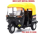 Happy GiftMart Bajaj Auto Rickshaw - 1:14 Scale - Die-Cast Metal Model Toy For Kids