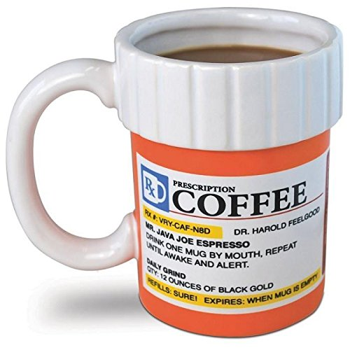 Price comparison product image Big Mouth Toys The Prescription Coffee Mug PackageQuantity: 1 Color: White Model: BM1524 (Home & Kitchen)