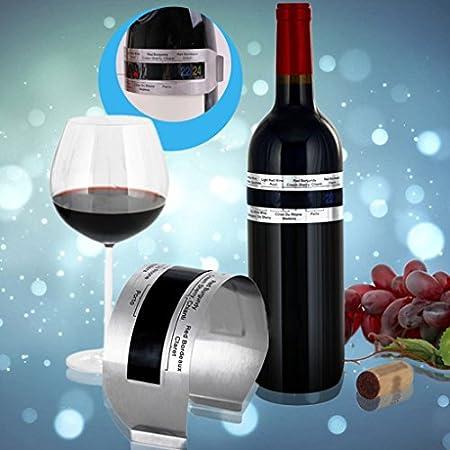 LEVEL GREAT Acero Inoxidable LCD eléctrica del Rojo de Vino del termómetro del Metro Digital 4-24 Grados Celsius de Temperatura Rango