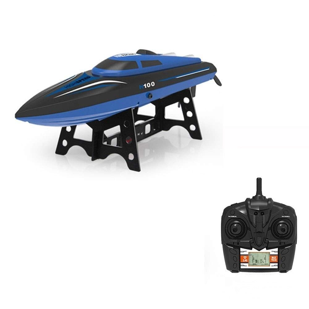 Woote Remote Control Boat 2.4G Water Model Airplane Toy High Speed Ferry Speedboat Remote Control Boat Water Cycle Ship Over Reset Child Adult Ships Charging 35KM/h Competition Submarines