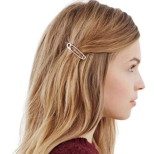 Orcbee  _Charm Hairpin Cute Hair Clip Brooch Pin Shape Hair Clip Women Girl Hair Stylish (Gold)