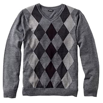 Liz claiborne apt 9 mens merino wool blend argyle sweater for Liz claiborne v neck t shirts