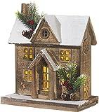 RAZ Imports Lit Snowy Christmas House