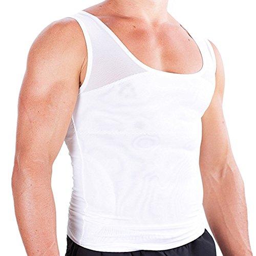 Gynecomastia Compression Shirt To Hide Man Boobs Moobs Slimming Mens Shapewear