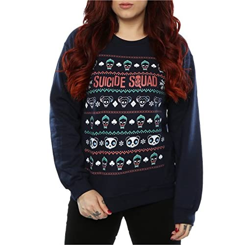 4c6dd2738e186 free shipping Suicide Squad Women's Characters Christmas Sweatshirt ...