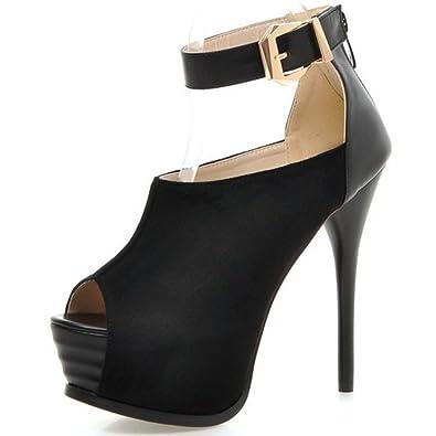 c0ace3546bfa14 COOLCEPT Women Stiletto Pumps Sexy High Heel Platform Party Heels Shoes (3 B (M