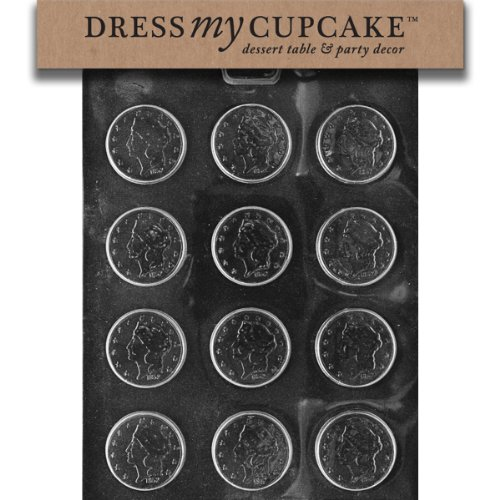 Dress My Cupcake DMCM121 Chocolate Candy Mold, Large Coins
