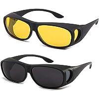 2 PCS Night Vision Driver Goggles Unisex HD Vision Sun Glasses Car Driving Glasses UV Protection Polarized Sunglasses Eyewear