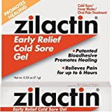 Zilactin Cold Sore Gel, Medicated Gel 0.25 oz