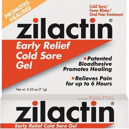 Zilactin Cold Sore Gel, Medicated Gel 0.25 - Cream Zovirax