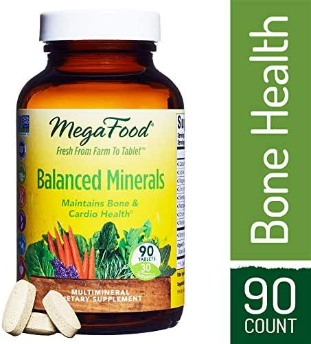 MegaFood - Balanced Minerals, Promotes Bone Development, Heart Health, Muscle Function, and Metabolism with Organic Herbs, Vegetarian, Gluten-Free, Non-GMO, 90 Tablets (FFP)