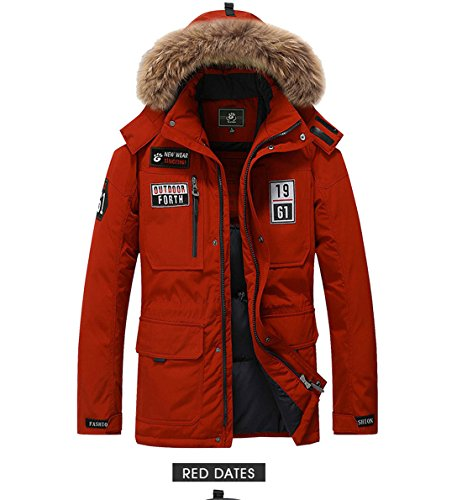 Solid Down Males Down Black Red 3XL Wine Duck Mens Coat Coats Winter Red Down Men's Plus Casual Jacket Size xw1wYq6nPC