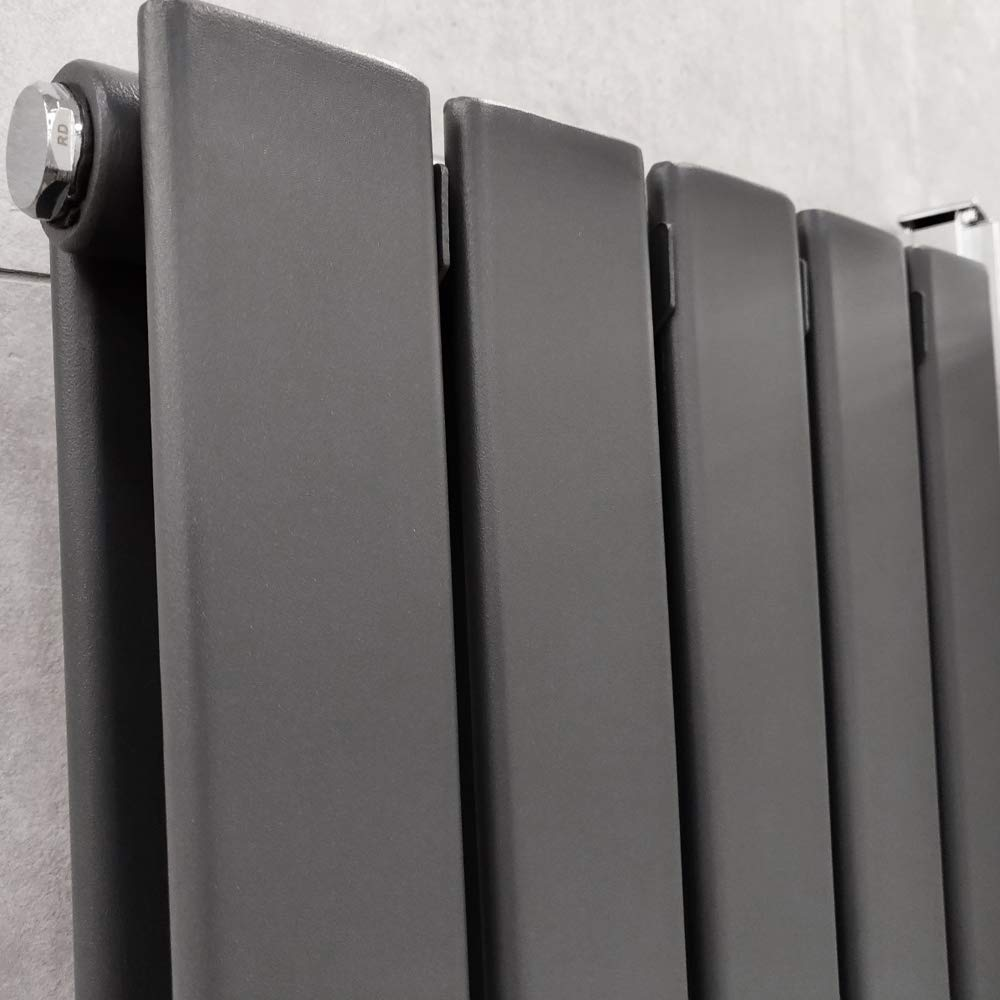 Bathroom Radiators Flat Panel Radiators The Bath People Vertical Radiator Double Column Radiators 1800 x 475 Anthracite