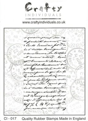 Crafty Individuals French Script Unmouted Rubber Stamp