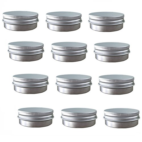 Aluminum Tin Jars, Cosmetic Sample Metal Tins Empty Containe