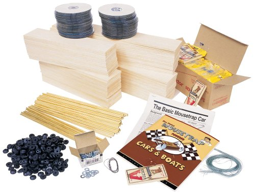 Pitsco Balsa Wood Mousetrap Vehicle Kit (For 10 Students)