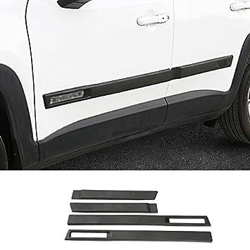 ABS Body Side Moulding Kit de puerta de coche moldura Protector cubierta para Jeep Renegade: Amazon.es: Coche y moto