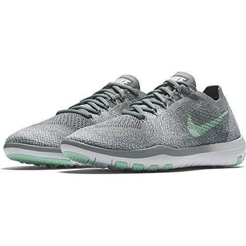 Nike Wmns Free Focus Flyknit 2 Sz 9 Womens Cross Training Cool Grey/Arctic Green-White Shoes