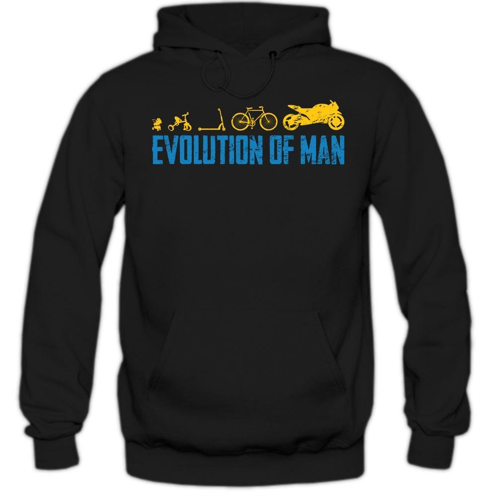 Motorsport-MOTO EVOLUTION-Donna con Cappuccio Pullover S-XL