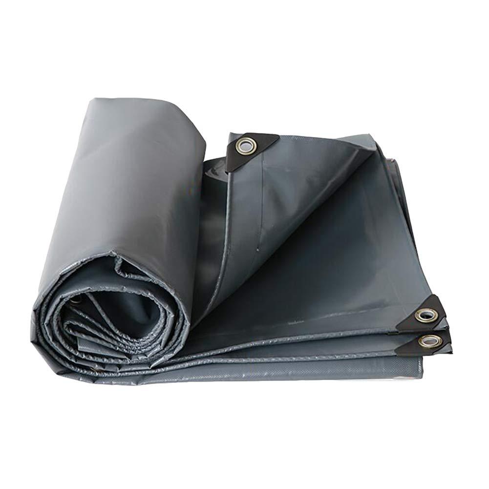 DALL ターポリン 耐寒性 タープ グランドシート カバー シェッドクロス PVCコーティング 防水 (色 : Gray, サイズ さいず : 3×3m) 3×3m Gray B07KWN3ZD9