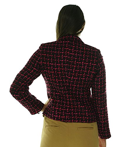 ompson Women's Boucle Tweed Two Button Blazer 10P Black Aubergine Rhubarb Multi Black/Aubergine/Rhubarb10 Petite