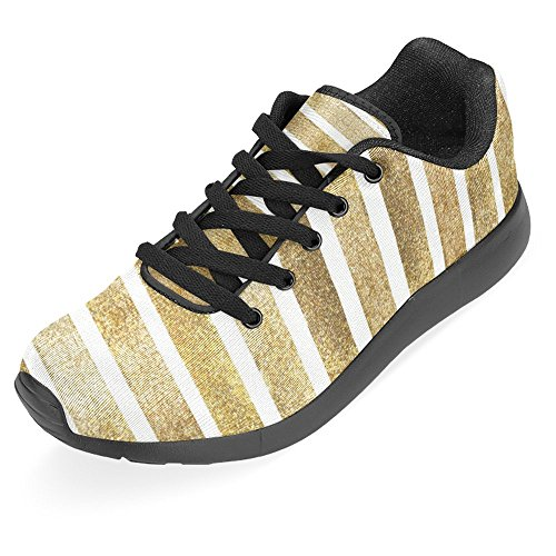 InterestPrint Womens Jogging Running Sneaker Lightweight Go Easy Walking Casual Comfort Running Shoes Fashion Golden Stripes Multi 1 xmqAZjqBV8