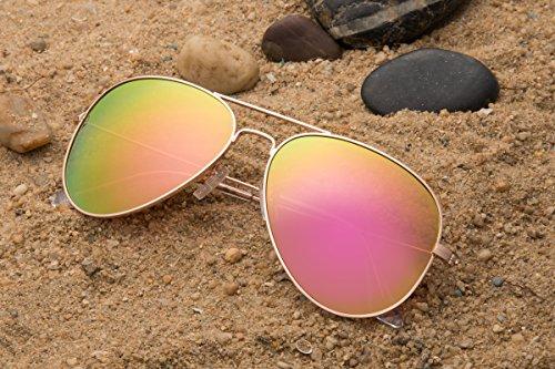 pink Gafas de Mirrored JAVIOL hombre sol para Gold YCa5dwq