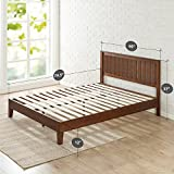 Zinus 12 Inch Deluxe Wood Platform Bed with Headboard / No Box Spring Needed / Wood Slat Support / Antique Espresso Finish, Queen