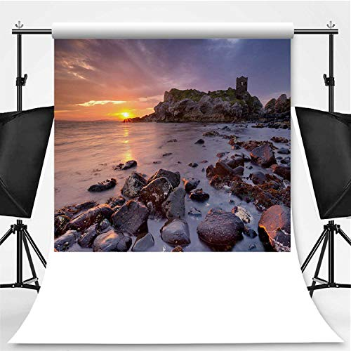Halloween In Northern Ireland (Spectacular Sunrise at Kinbane Castle in Northern Ireland Theme Backdrop Photo Backdrop Photography)