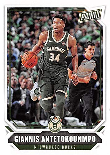 Giannis Antetokounmpo Basketball Card (Milwaukee Bucks, The Greek Freak) 2018 Panini The National #32