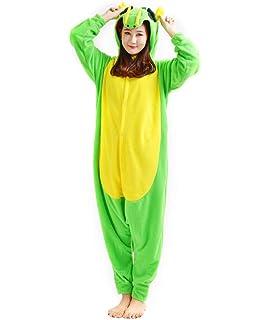 84a2b36d2939b Kigurumi Onesie Pyjama Combinaison Animal Adulte Unisexe Cosplay Halloween  Costume Dragon