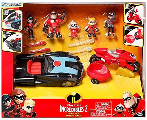 The Incredibles 2 Junior Super Family 8-Pack Toy Play Set Gift. Action Figure
