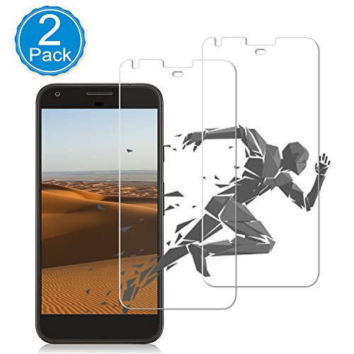 [2-Pack] Google Pixel XL Screen Protector,Auideas Ultra Clear 9H Anti-Scratch Tempered Glass,2.5D Rounded Edges Bubble Free Install Glass Film with Lifetime Replacement - Google Terminator Glasses