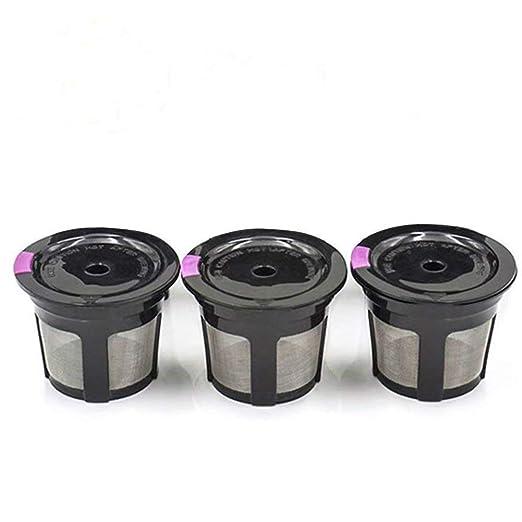 3 piezas reutilizable filtro de malla de acero inoxidable ...