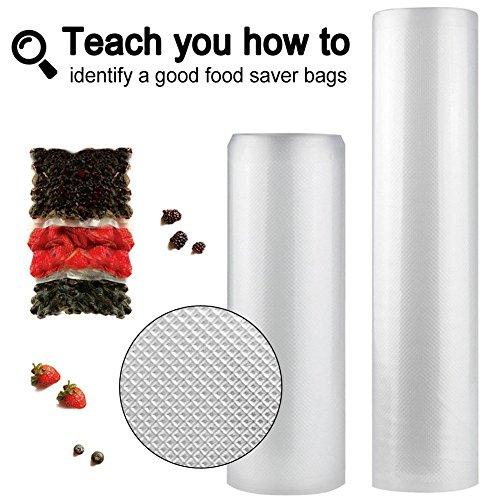 Vacuum Sealer Bags – 11″ + 8″ Rolls – Pack of 2 Food Vacuum Bags Roll – BPA Free Bags for Sous Vide and Fresh Protector