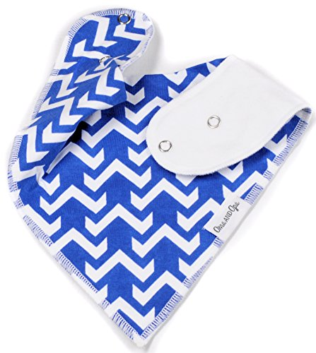 "Baby Bandana Drool Bib Gift Set (5-Pack) for Boys ""Tangled Up In Blue Set"" by Oma & Opa"