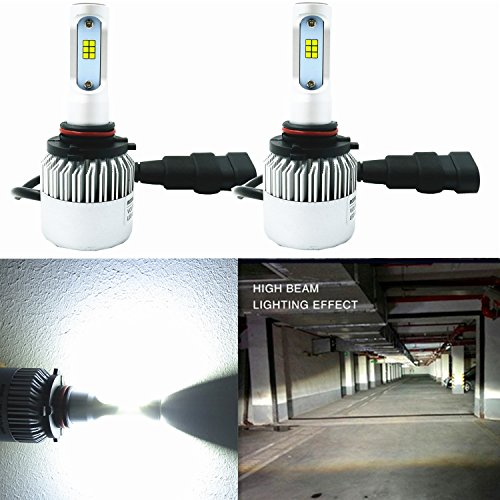 Alla Lighting HB3 9005 LED Headlight Bulbs Extreme Super Bright CSP LED 9005 Headlight Bulbs 9005 6000K ~ 6500K Xenon White 9005 Bulb 8000Lm 9005 HB3 LED Headlight Conversion Kit Bulbs Lamp (Set of 2)